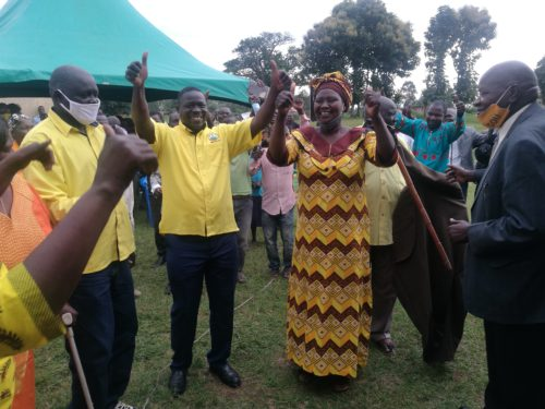 MP Atiku flashes NRM symbol after being welcomed in the party